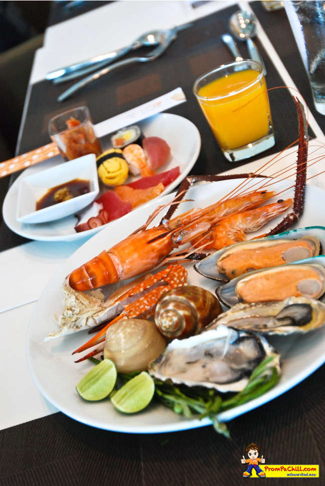 อาหารSeaFood Sunday Brunch Buffet