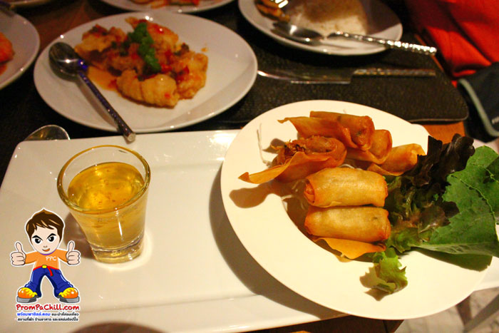 Dinner Set - เปาะเปี้ยทอด - มาราเกซ หัวหิน-MarRaKesh-HuaHin