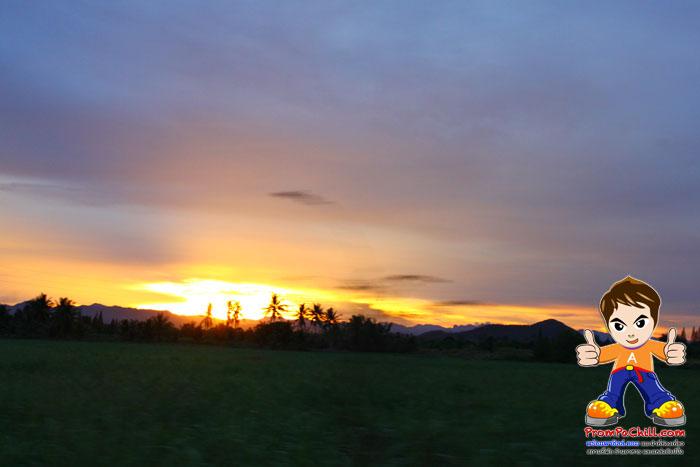 บรรยากาศตอนพระอาทิตย์ตกดิน