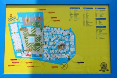 แผนที่ในบริเวณ santorini-park