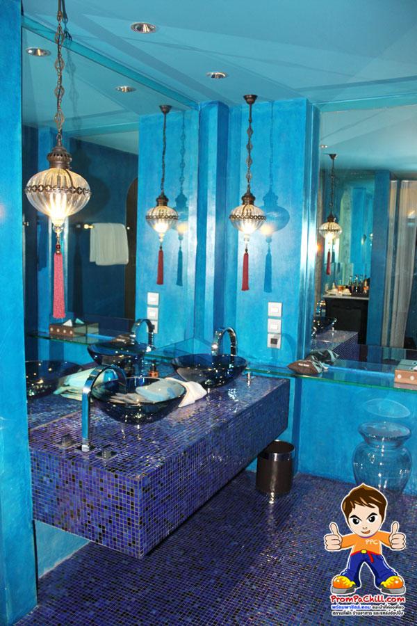 บรรยากาศภายในห้องพัก บริเวณเคาน์เตอร์หน้าห้องน้ำ มาราเกซ หัวหิน-MarRaKesh-HuaHin