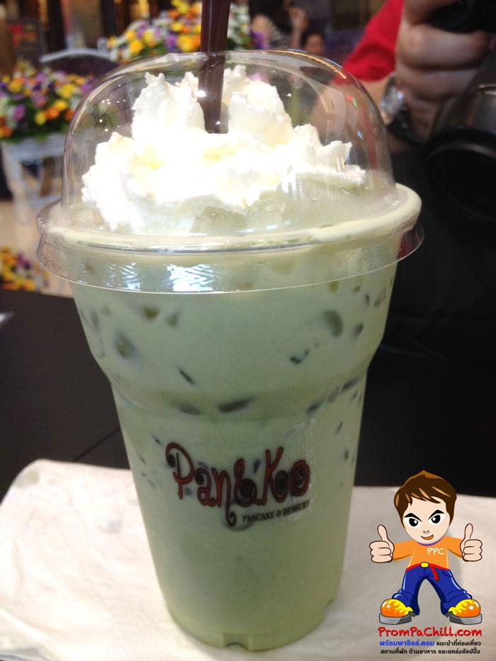 เครื่องดื่ม Ice Green Tea Latte หวานหอมมันส์เลยครับ ^ ^