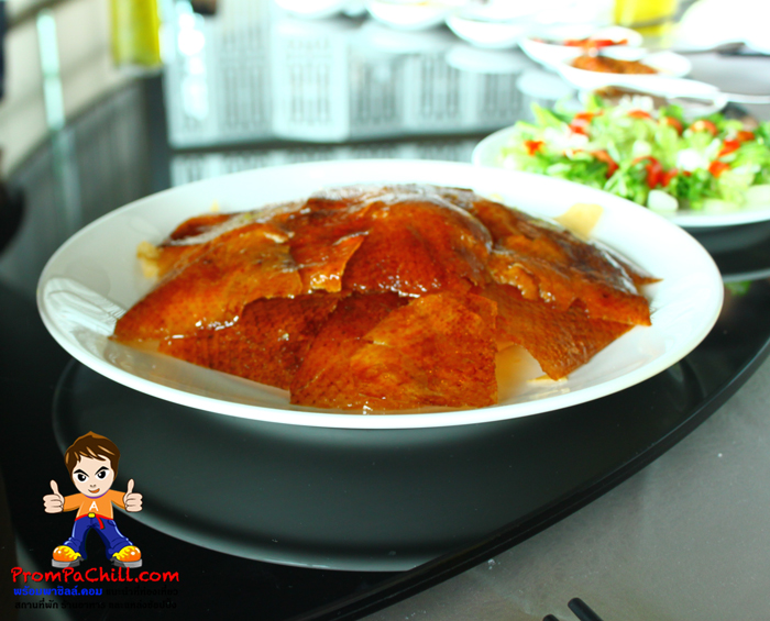 เป็ดปักกิ่ง หนังกรอบๆ อร่อยๆครับ ที่ห้องอาหารจีน Silver Waves